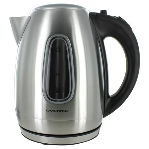 electric kettles ovente kettle tea stainless steel silver liters english