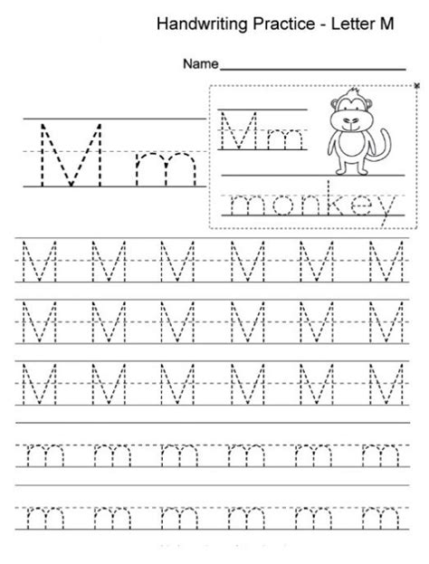 free printable letter m worksheets for kindergarten 847 | free printable letter m worksheets e1505662271114