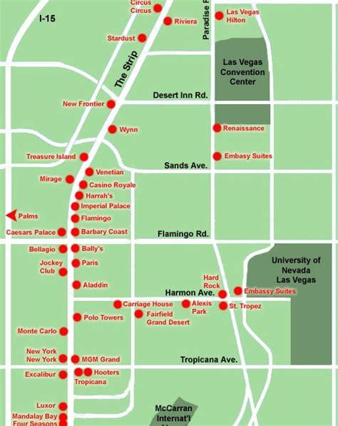 cidyjufun map of las vegas hotels on the