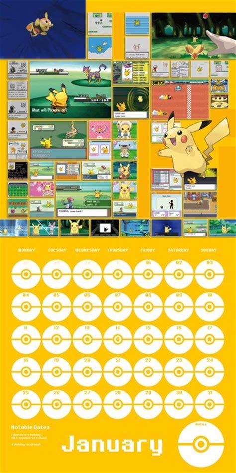 pokemon calendarios