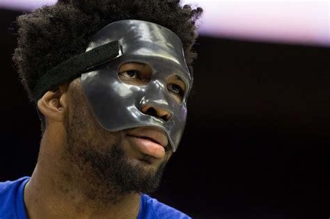 nba fans     joel embiids  mask complex