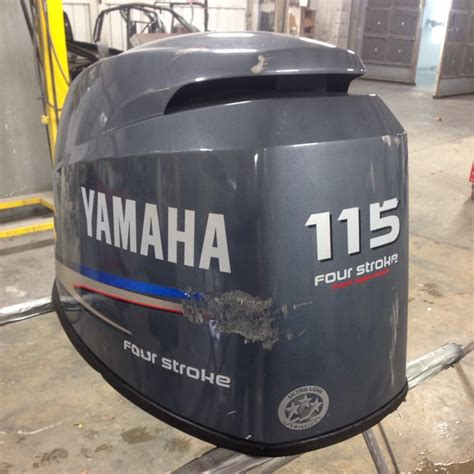 Boat Hull Refinishing by Yamaha Cowling Restoration Marine Outboard Refinishing