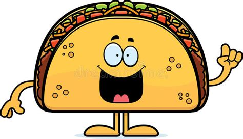 Cartoon Taco Idea Stock Vector. Illustration Of Tomato