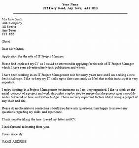 it project manager cover letter example icoverorguk With cover letter for project coordinator position