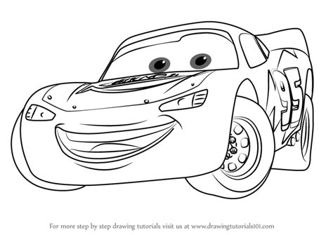 Learn How To Draw Lightning Mcqueen From Cars 3 (cars 3