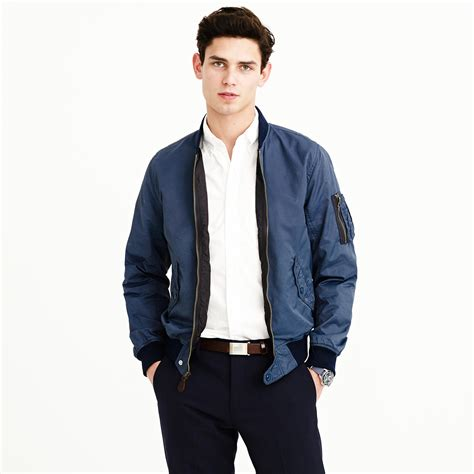 wallace and barnes j crew wallace barnes ma 1 bomber jacket in blue for