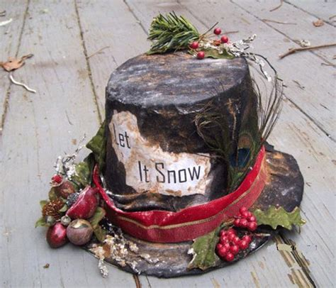 snowman hat primitive holiday decor winter christmas