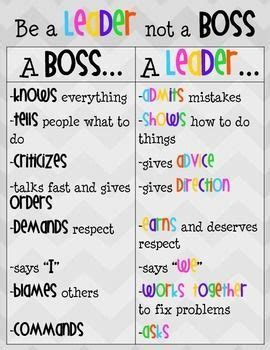 leader  boss poster student leadership leadership