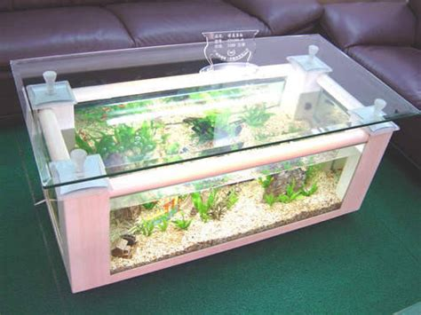 rectangle coffee table glass fish tankid product