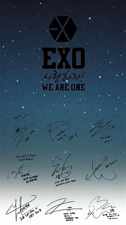 Exo Ot9 Wallpapers Chen 4k Gambar Signatures