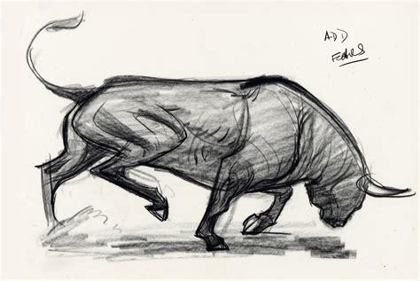 forced  mike mattesi force animal drawing bull