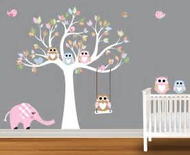 Baby wall decals nursery birch trees