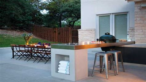 Kitchen island mini bar, modern outdoor bbq design ideas