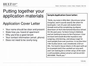 Transitional housing presentation for How to write a cover letter for a rental application