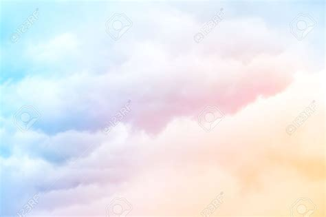 A Soft Cloud Background With A Pastel Colored Orange To