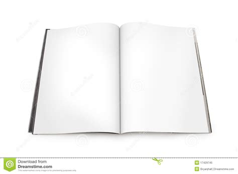 open magazine spread open magazine spread with blank pages royalty free stock