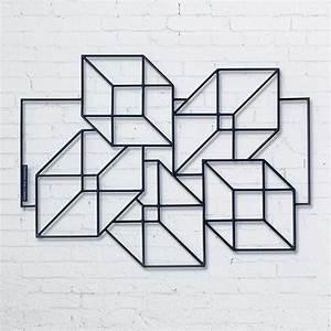 Décoration Murale En Métal Design : sculpture tendance sculpture g om trique sculpture origami sculpture ext rieure les 5 cubes ~ Teatrodelosmanantiales.com Idées de Décoration