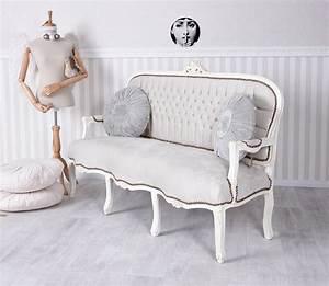 Sitzbank Shabby Chic : salonsofa barock sofa vintage sitzbank couch shabby chic polstersofa samt ebay ~ Sanjose-hotels-ca.com Haus und Dekorationen