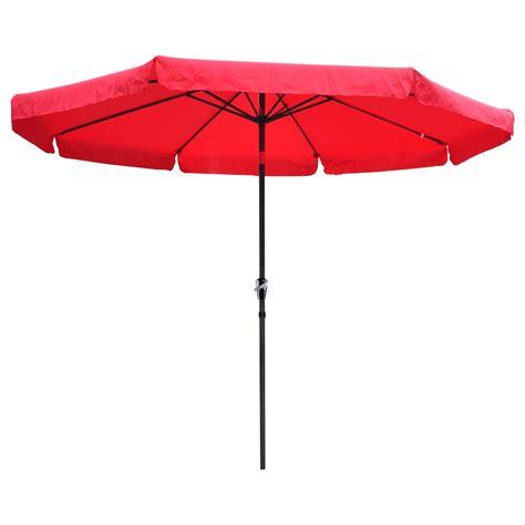 outdoor patio umbrellas 10ft aluminum outdoor patio umbrella w valance crank tilt