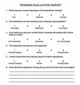 Training survey 9 download free documents in pdf word for Training feedback survey template