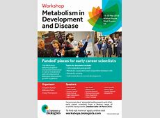 Funded places available for the workshop 'Metabolism in