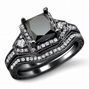 black wedding rings for women with gothic style rikofcom With womens black diamond wedding rings