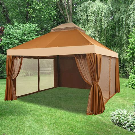 garden winds gazebo replacement canopy for naples 12x13 gazebo riplock 500