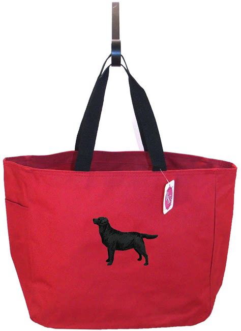 labrador retriever bag essential tote black  white puppy