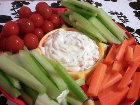 recette de cuisine au four recette de sauce apéritif fraiche pour crudité