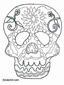 Lesson Plan Pdf Template Calavera Day Of The Dead Coloring Page Kinderart