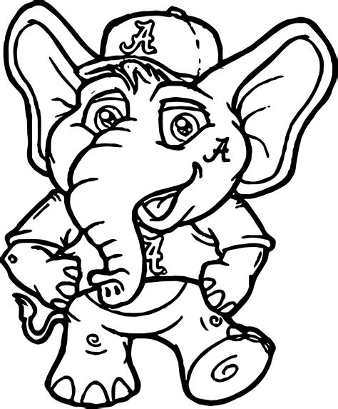Football Coloring Pages Puter Screen Alabama In Grig3org