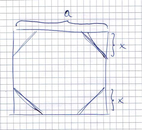 vom quadrat zum achteck wie mathelounge