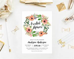 printable boho wreath bridal shower invitation 2223457 With free printable boho wedding invitations