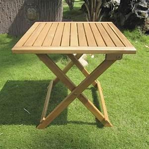 Small, Wooden, Folding, Garden, Table