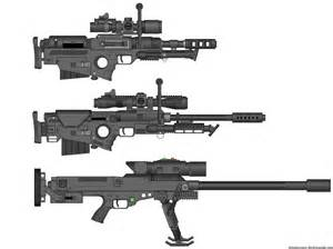 Cool Future Sniper Rifle