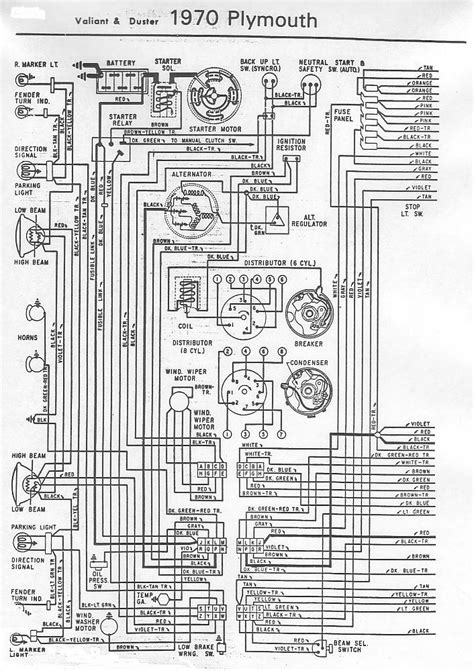 Wiring Diagram 1973 Plymouth Duster by 70 And 71 Valiant Duster Wiring Diagram For A Bodies