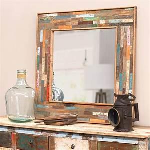 Miroir Maison Du Monde Industriel : miroir en bois h 90 cm boh me maisons du monde ~ Teatrodelosmanantiales.com Idées de Décoration