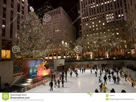 christmas tree in new york editorial photography image of city 7405517