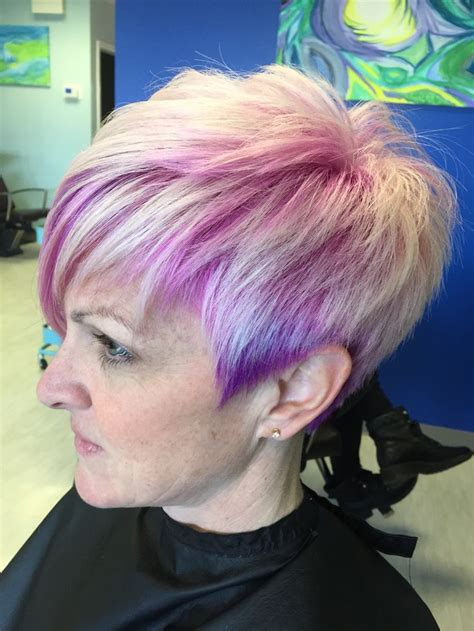 pink  purple underlaid color color   pinterest  purple awesome hair