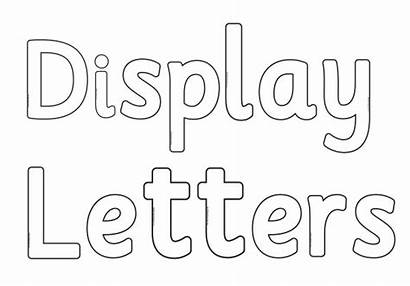 Blank Display Alphabet Cut Letters Outs Numbers