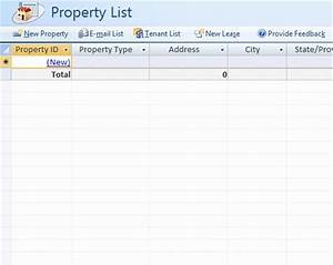 Real estate property database for microsoft business access for Inventory management template access 2007