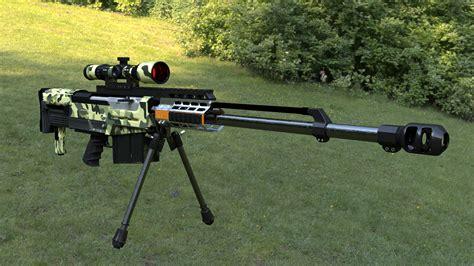 AS50 Sniper Rifle 3D Model .obj .3ds .fbx .blend