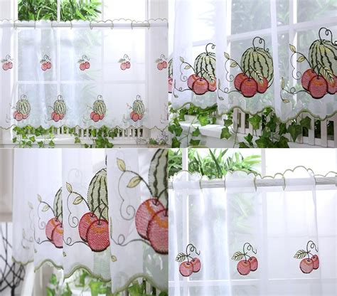 curtain designs for kitchen kitchen voile cafe net curtain panel 25 new designs 12 6328