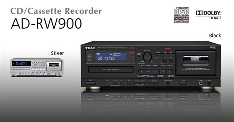 Cd Cassette Recorder by Ad Rw900 B Teac