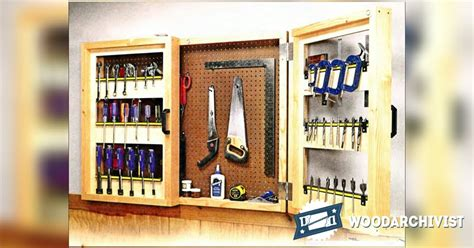 pegboard tool cabinet plans woodarchivist