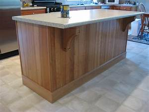 Cherry Mission Corbels Accent Kitchen Island - Osborne