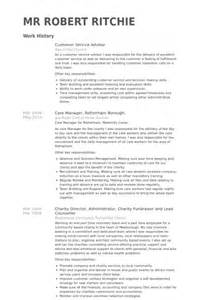 service advisor resume exle customer service advisor resume sles visualcv resume sles database