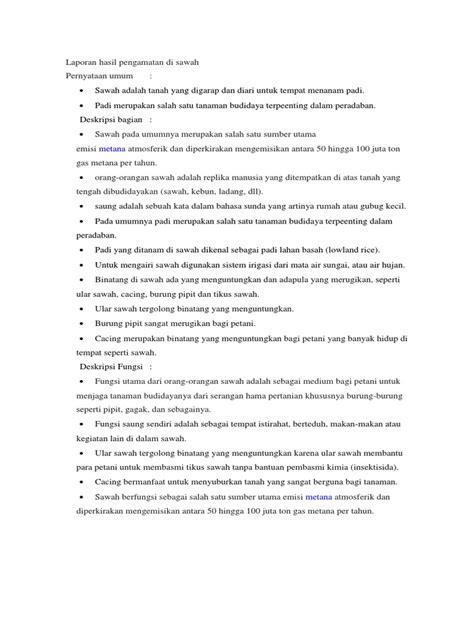 Dalam penyusunan tugas ini, kami mendapat bimbingan, arahan dan petunjuk dari ibu guru. Contoh Teks Laporan Hasil Pengamatan - Seputar Laporan