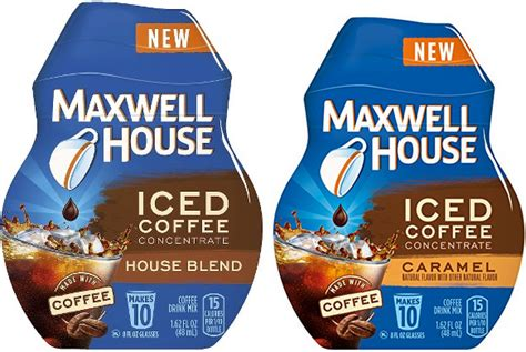 Maxwell house iced coffee concentrate, vanilla, 1.62 ounce : *New* $1.00 Maxwell House Iced Coffee Concentrate Coupon