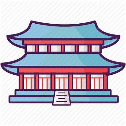 Korean Palace Clipart Gyeongbokgung Landmark Korea Icon